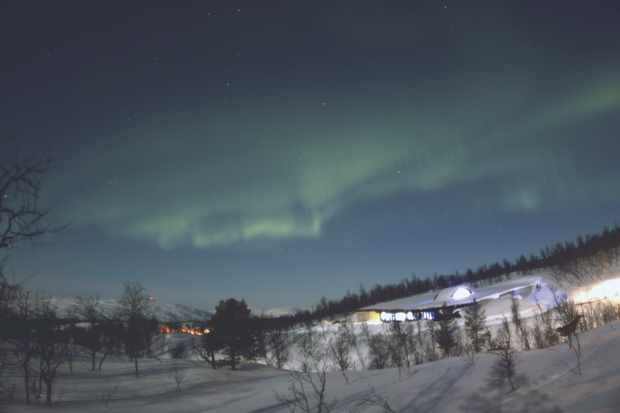 A curtain aurora seen by Paul Money in Bardufoss, Norway. Credit: Paul Money