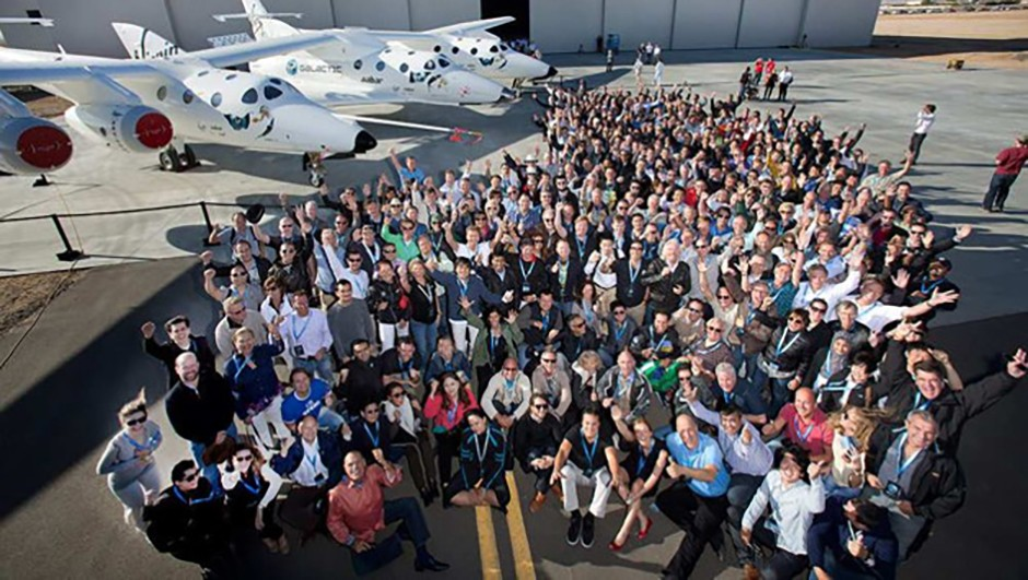Some of the 700 future Astronauts who have signed up to fly with Virgin Galactic. Credit: Virgin Galactic