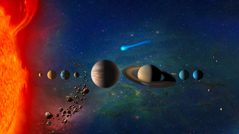 An artist's depiction of our Solar System. Might our cosmic environs be considered the 'dark side of the Galaxy'? Credit: NASA (artist's impression)