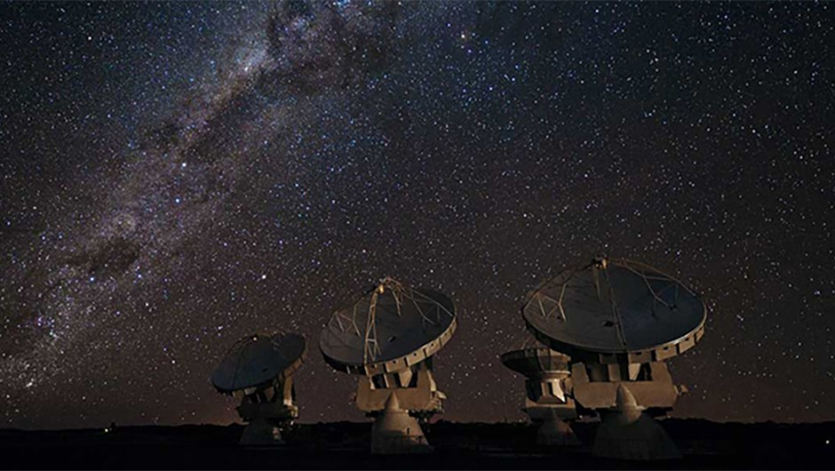 """""""In the deepest sense the search for extraterrestrial intelligence is a search for ourselves"""" – Carl Sagan (Credit: ESO/José Francisco Salgado)"""