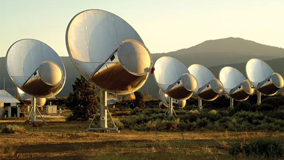 Plans are in place to expand the ATA to 350 radio dishes. (Credit: SETI Institute)