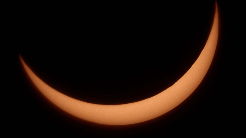 A solar eclipse appeared over the UK in March 2015. Bill McSorley captured this image of it from Leeds.Credit: Bill McSorley