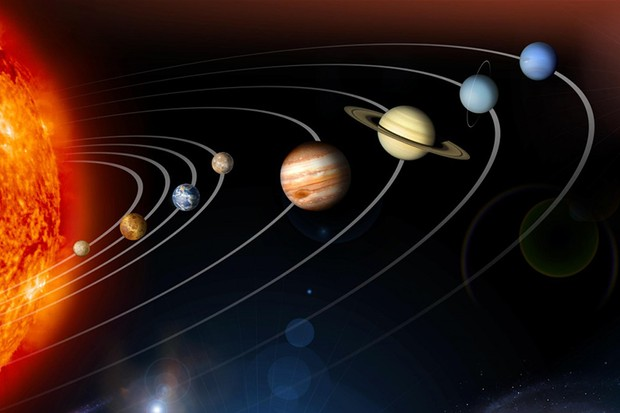 """Just as the solar system is a few small planets in millions of kilometres of empty space, an atom is just a few electrons orbiting the tiny central atomic nucleus."" Credit: NASA"