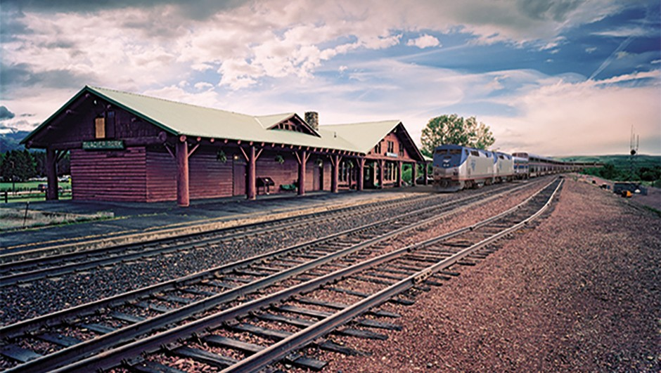Amtrak's Empire Builder will whisk you to the edge of the eclipse path. © Amtrak