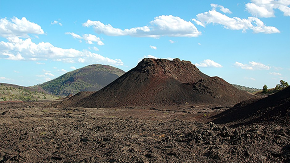 A post-eclipse trip to the Craters of the Moon National Monument seems fitting. © NPS/Dave Clark
