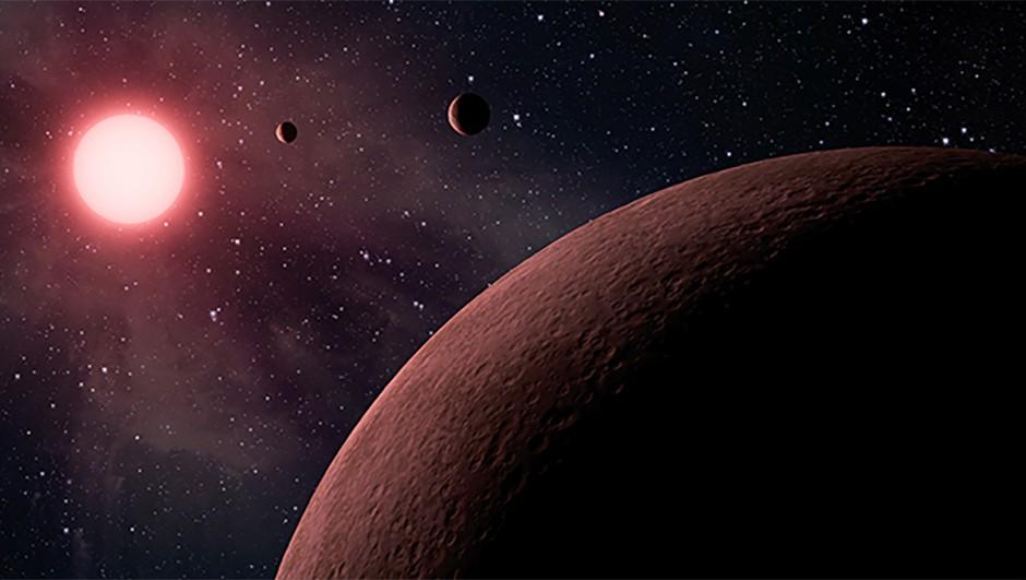 An artist's impression of exoplanets in orbit around a star. Credit: NASA/JPL-Caltech