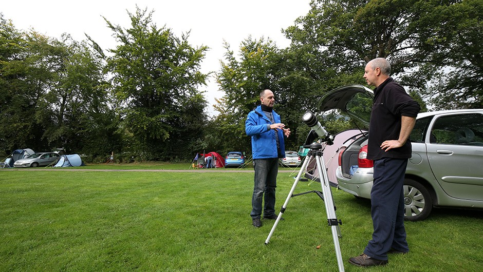 There was even time for a spot of solar viewing at AstroCamp. Credit: Jamie Carter
