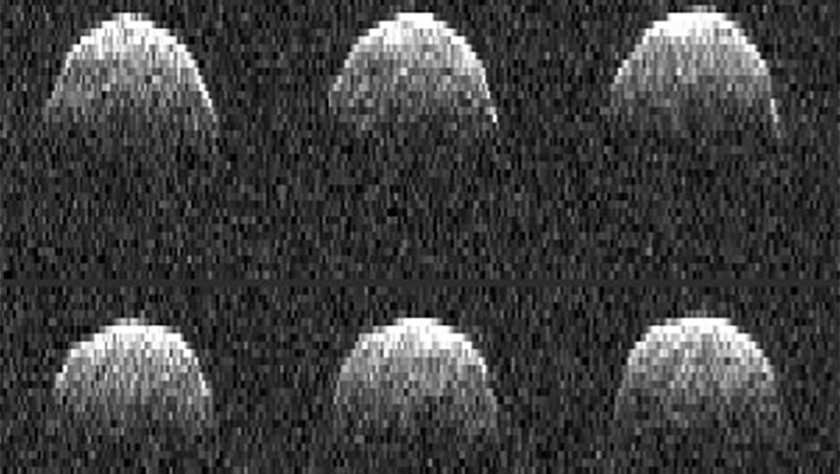 A set of radar images of 1999 RQ36. (Image credit: NASA/JPL-Caltech)