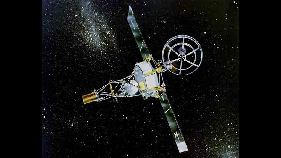 An illustration of Mariner 2. The spacecraft made history as it flew 35,000km from Venus on 14 December 1962. Credit: NASA/JPL-Caltech