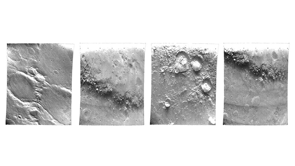 A selection of flyby images from the southern part of the Mariner 7 track. Reproduced courtesy of Haynes Publishing. Credit: NASA/JPL-Caltech