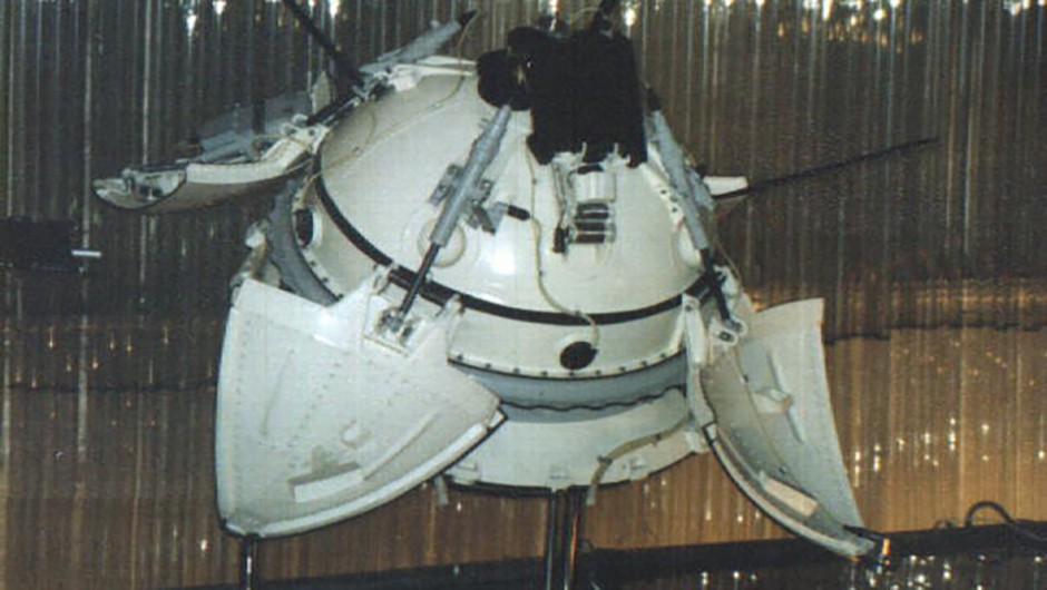 Mars 3 Lander model at the Memorial Museum of Cosmonautics in Russia. Credit: NASA (http://nssdc.gsfc.nasa.gov/image/spacecraft/mars3_lander_vsm.jpg)