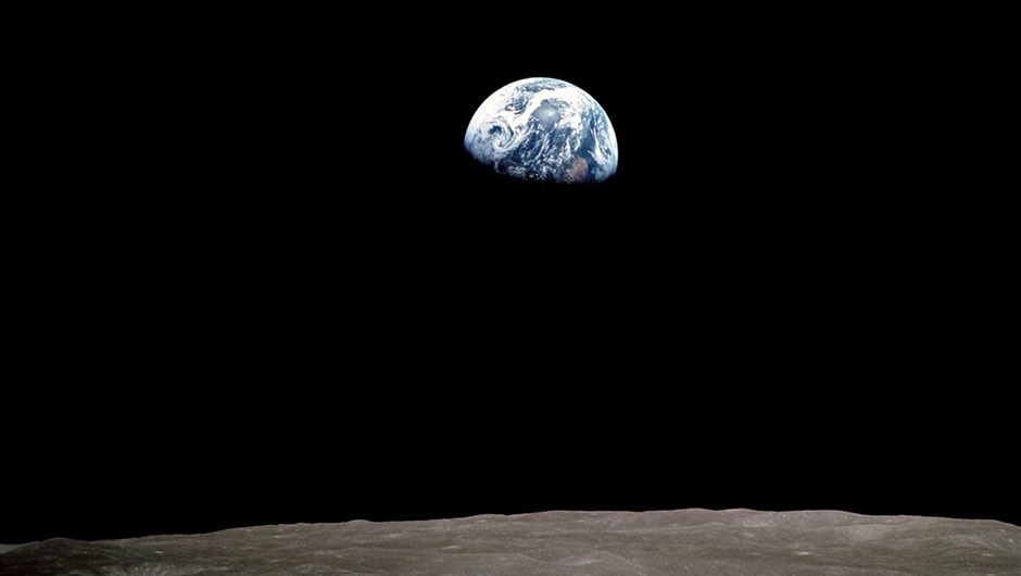 The famous Earthrise picture was taken by lunar module pilot Bill Anders on Christmas Eve 1968 after the crew spotted our planet coming up over the horizon