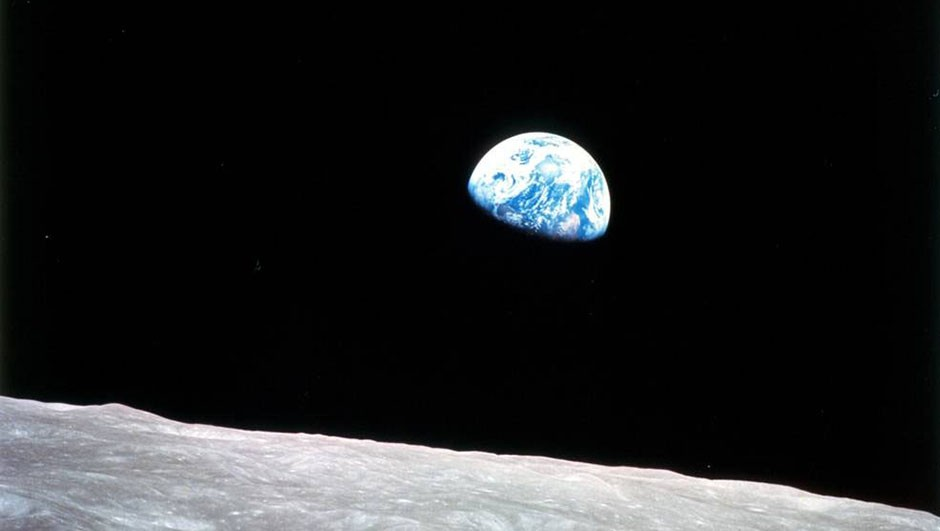 William Anders' now-famous 'Earthrise' image, captured during Apollo 8, showed the fragility of our planet for the first time. Credit: NASA