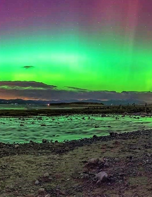 Aurora Borealis Melissa Southward, Cumbria, UK. Equipment: Nikon D3 DSLR camera, 16mm lens.