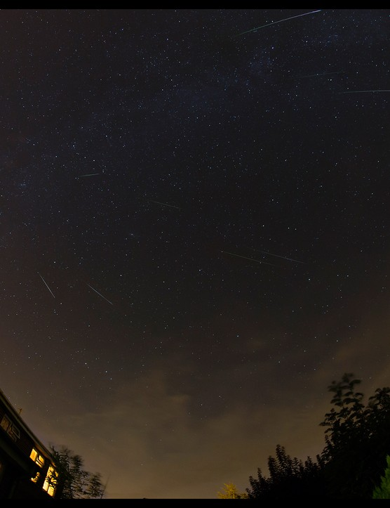Perseid montage Gavin James, Marlborough, 15 August 2015. Equipment: Canon EOS 1DX DSLR camera, 15mm lens.