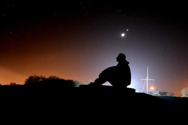 AAA-Seated-Pilot-looking-towards-Orion-with-Venus-The-Moon-Jupiter-B.O.B.-Memorial-Capel-le-ferne-260312-2-rescale-26e8f6f