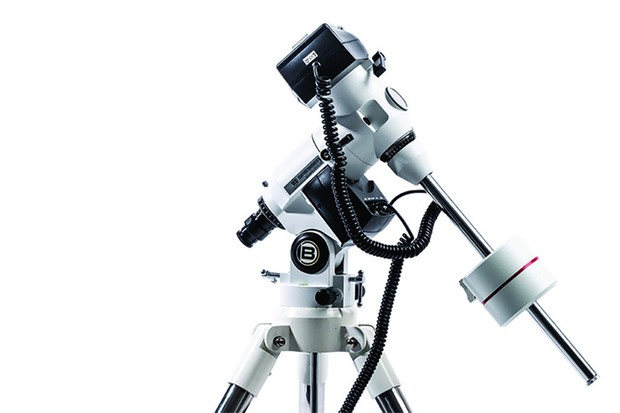 The Bresser EXOS 2 Go-To mount. A handy way to locate objects in the night sky.