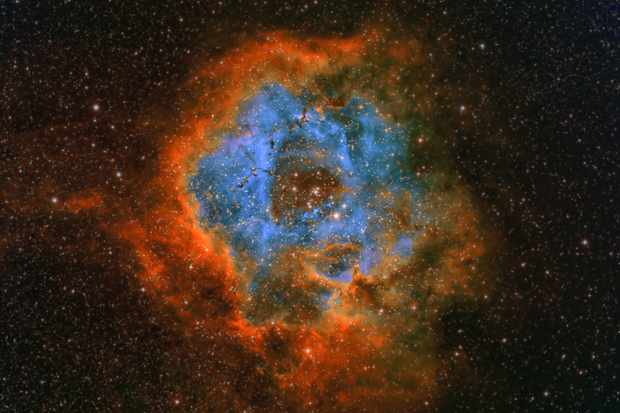 Pictures of the Rosette Nebula