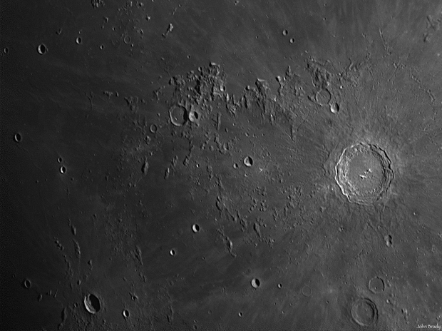 Copernicus crater on the Moon, by John Brady.