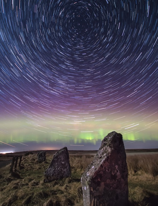Achavanich star trails Gordon Mackie, Caithness, UK. Equipment: Canon EOS 760D DSLR camera, Sigma 10-20mm.