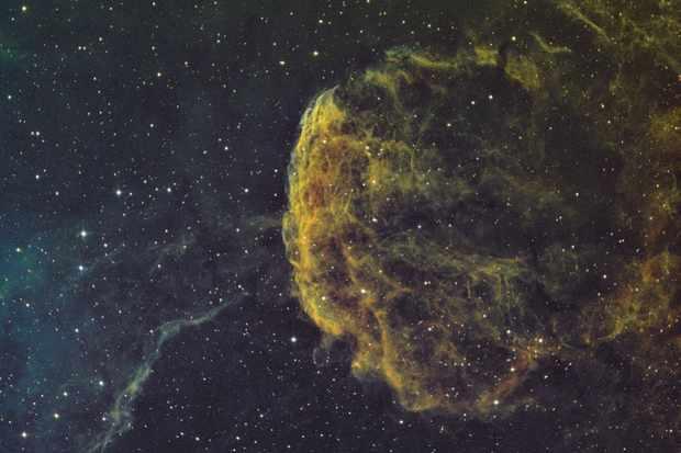 The Jellyfish Nebula Stewart Wilson North London, UK. ZWO ASI1600MM camera, Sky-Watcher Quattro 250mm f/4 Imaging Newtonian, 10Micron GM-1000 HPS mount.