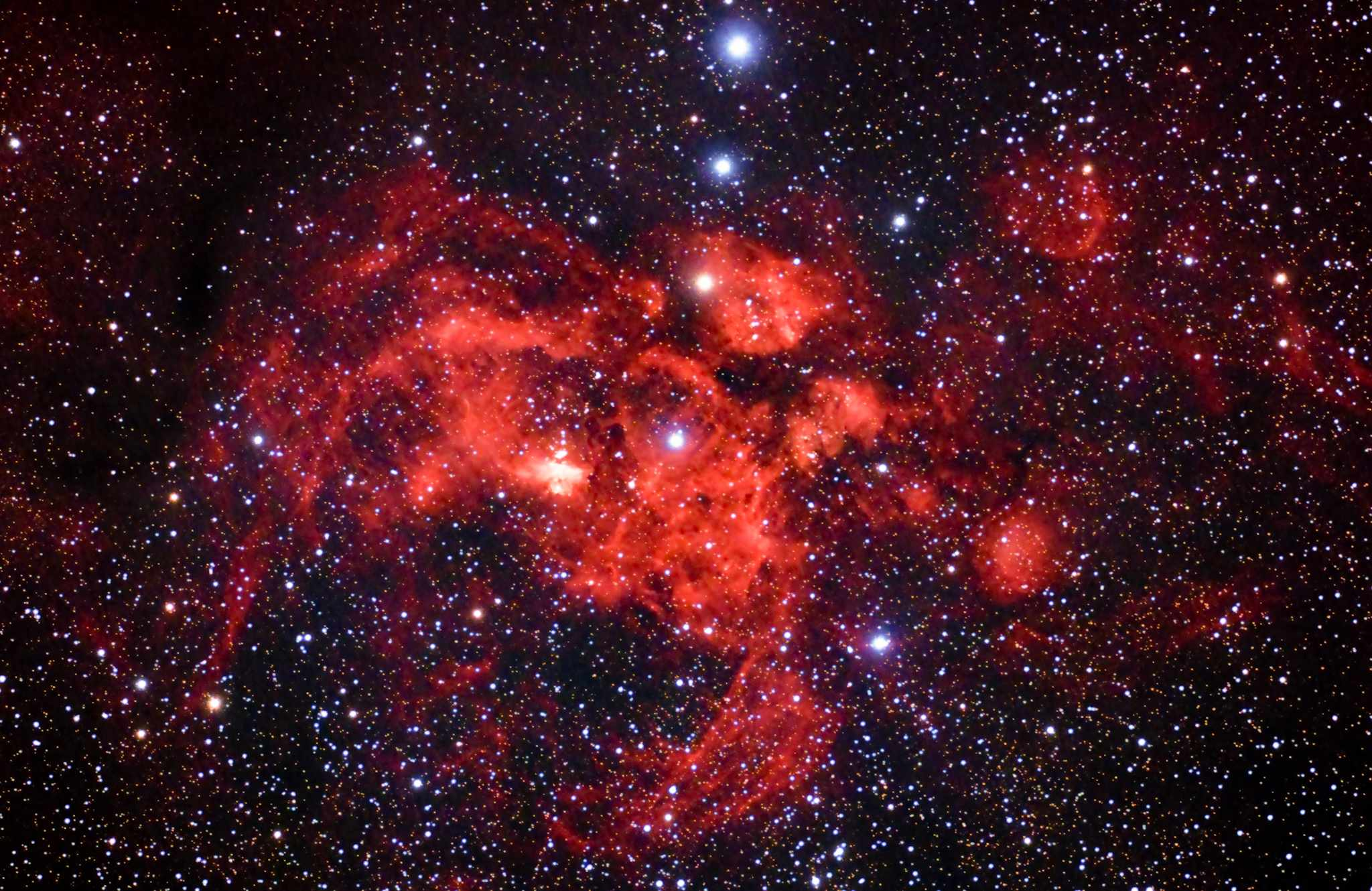 Pictures of the Lobster Nebula
