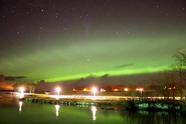 Aurora Borealis over Wick Maciej Winiarczyk, Wick, Scotland. Equipment: Canon EOS 1000D DSLR camera, 18-55mm lens.