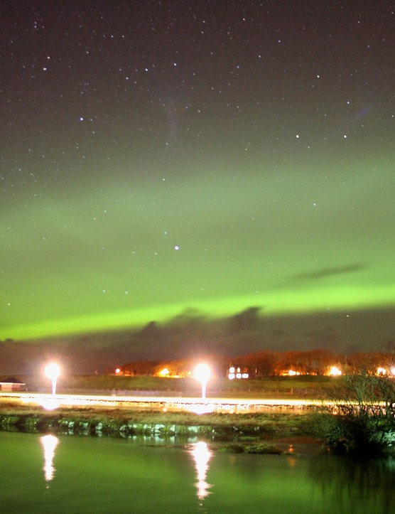 Aurora Borealis over Wick Maciej Winiarczyk, Wick, Scotland. Equipment: Canon EOS 1000D DSLR camera, 18-55mm lens.
