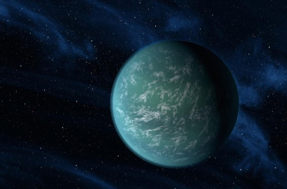 But astronomers don't know what Kepler-22b is made of yet