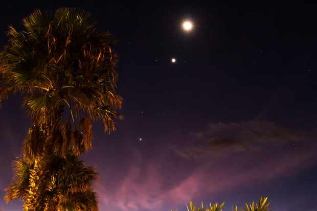 Moon, Venus, Jupiter & Mars Conjunction 8 Oct 2015
