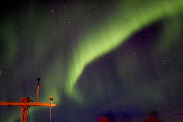 Northern Lights at Sea Geoff Glasgow, at sea near Alta, Norway. Equipment: Canon EOS 1000D DSLR camera, EFS 18-55mm lens, tripod.