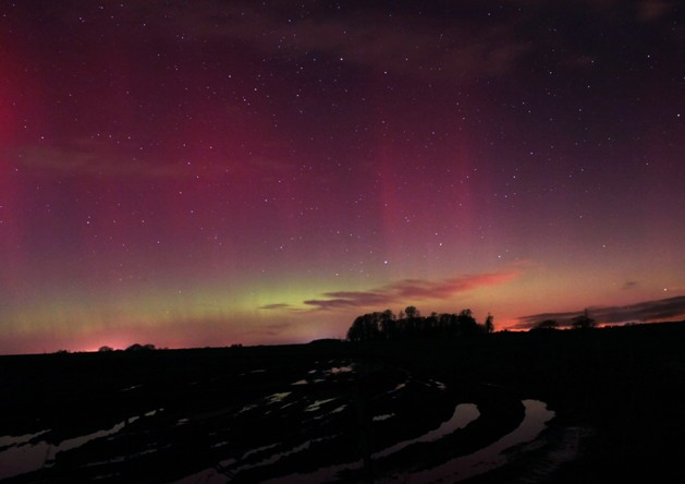 Will Gater captured this diffuse flow just northeast of Bath in an exposure lasting 20 seconds. Credit: Will Gater