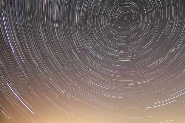 Star Trails over the Dragon's Teeth Studland Dorset