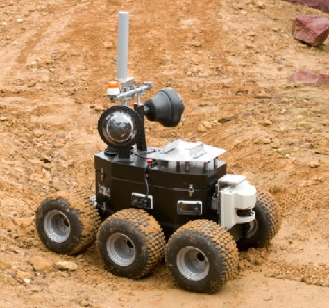 BAe Robotic rover being tested on the simulated martain landscape at the ATLAS, R27, quadrangle at STFC's Rutherford Appleton Laboratory under an ESA contract, 8th December 2011.
