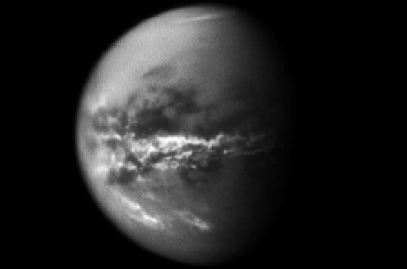 Evidence for seasonal methane rainstorms found on Titan