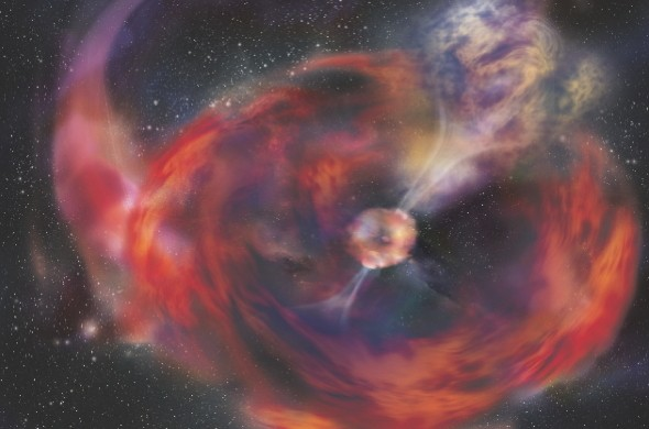 Was a comet impacting a neutron star responsible?