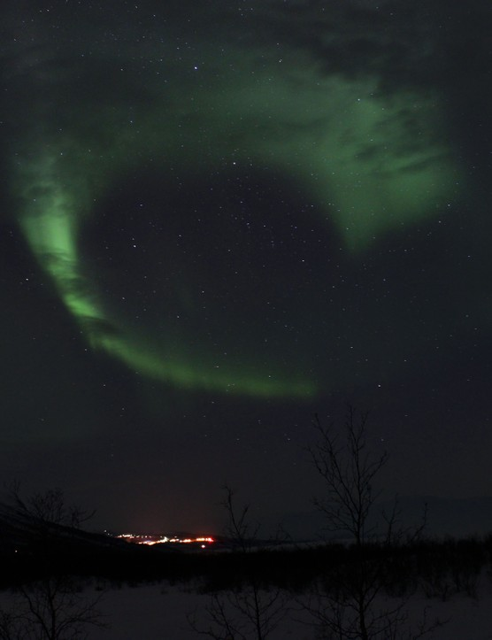 Aurora heart Dan Bartley, Abisko, Sweden. Equipment: Canon EOS 600D DSLR camera.