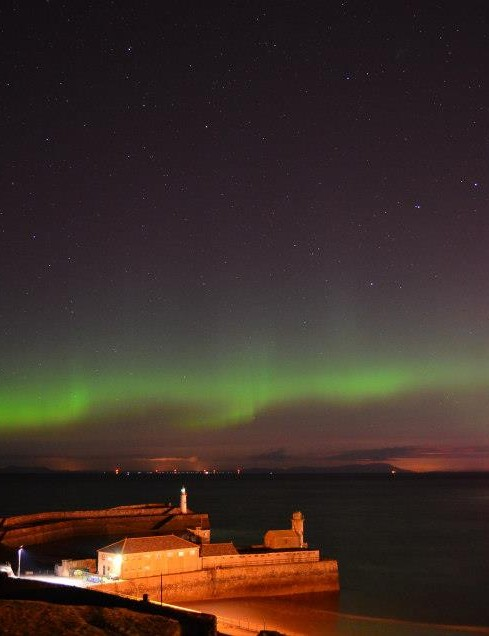 Aurora over the Solway Firth Adrian Strand, Whitehaven Cumbria. Equipment: Nikon D5100 DSLR camera, 18-55mm lens.