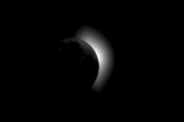 A total solar eclipse as seen from Apollo 11. Credit: NASA