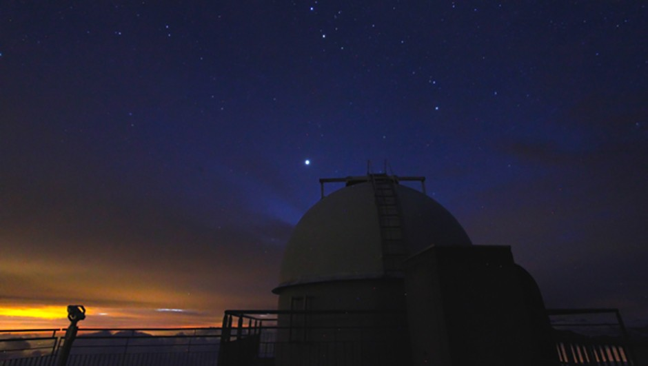 Jupiter shines above the Pic du Midi's Charvin Dome Credit: Gill Carter
