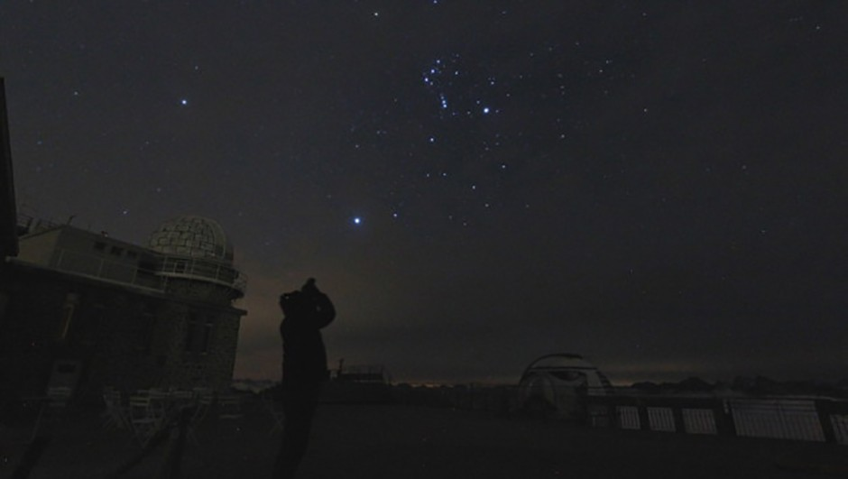 Orion glows at 05:00am above the Pic du Midi Credit: Gill Carter