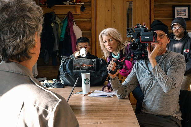 Director Rory Kennedy during one of the many expert interviews carried out for Above And Beyond, a new documentary looking at the history of NASA since the Apollo missions. Image Credit: Discovery Channel