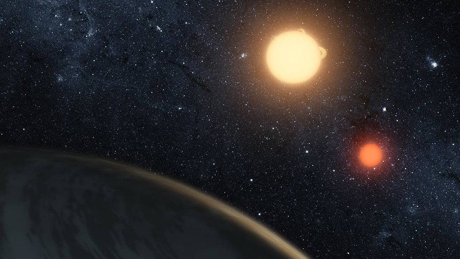 Artist's impression of exoplanet Kepler-16b which, like Tatooine, is known to orbit two stars. Credit: NASA/JPL-Caltech/T. Pyle