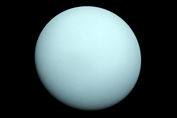 An image of Uranus taken by the spacecraft Voyager 2 in 1986. Credit: NASA/JPL-Caltech