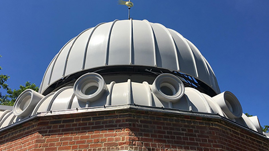 The dome of the Grade II-listed Altazimuth Pavilion building at the Royal Observatory Greenwich, where the new telescope is housed. Credit: Katherine Shaw / BBC Sky at Night Magazine