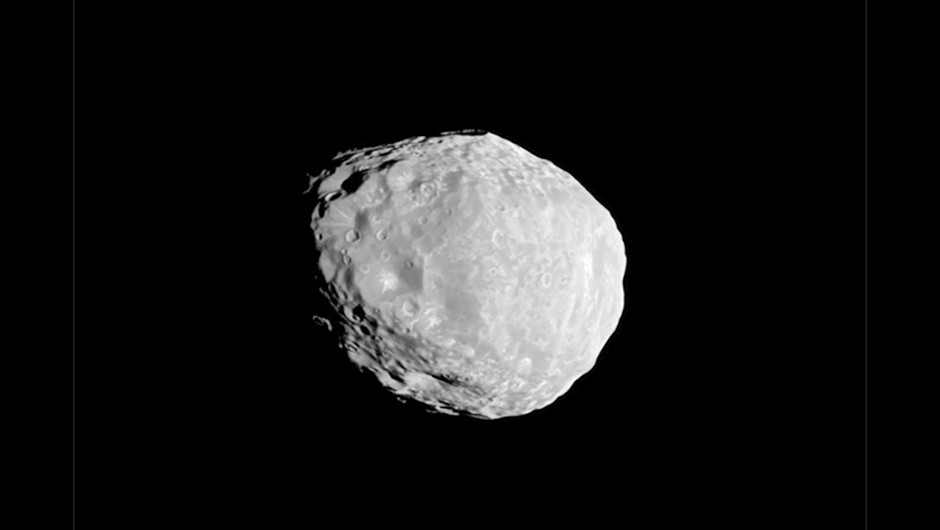 An image of Saturn's crater-covered moon Janus, taken by the Cassini spacecraft on 7 April 2010. Credit: NASA/JPL/Space Science Institute