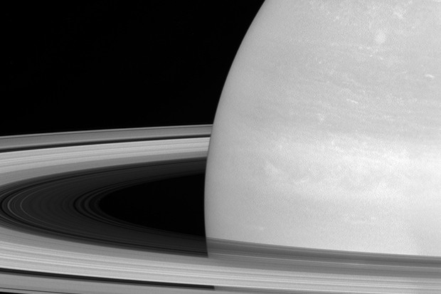 A view of Saturn's rings captured by the Cassini spacecraft on 21 July 2016. Just below rings can be spotted Saturn's tiny moon Mimas. Credit: NASA/JPL-Caltech/Space Science Institute