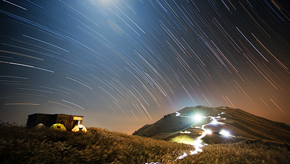While equatorial mounts will help you take crisp nightscape images, star trails can be used to add a unique effect to astrophotos. Chap Him Wong won the 'People and Space' category in the 2015 competition with this amazing shot. Credit: Chap Him Wong