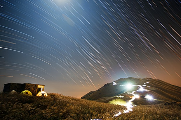 A star trail image captured by Chap Him Wong that won the 'People and Space' category in the 2015 Astronomy Photographer of the Year competition. Credit: Chap Him Wong