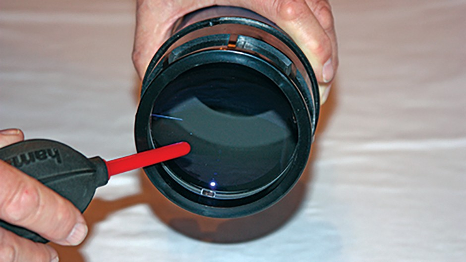 Clean refractor step 2